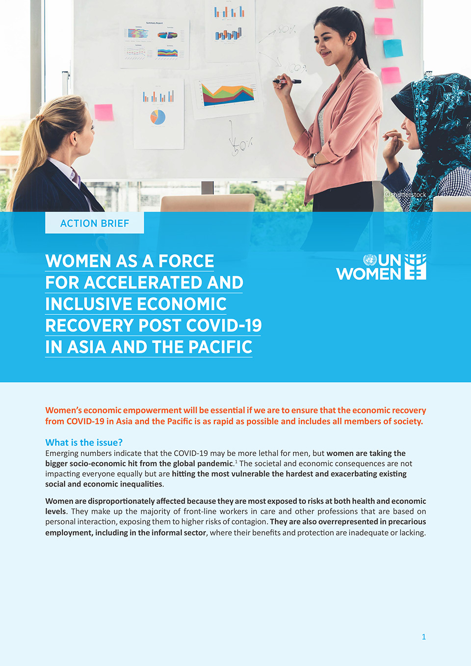 Women as a Force for Accelerated and Inclusive Economic Recovery, post COVID-19 in Asia-Pacific