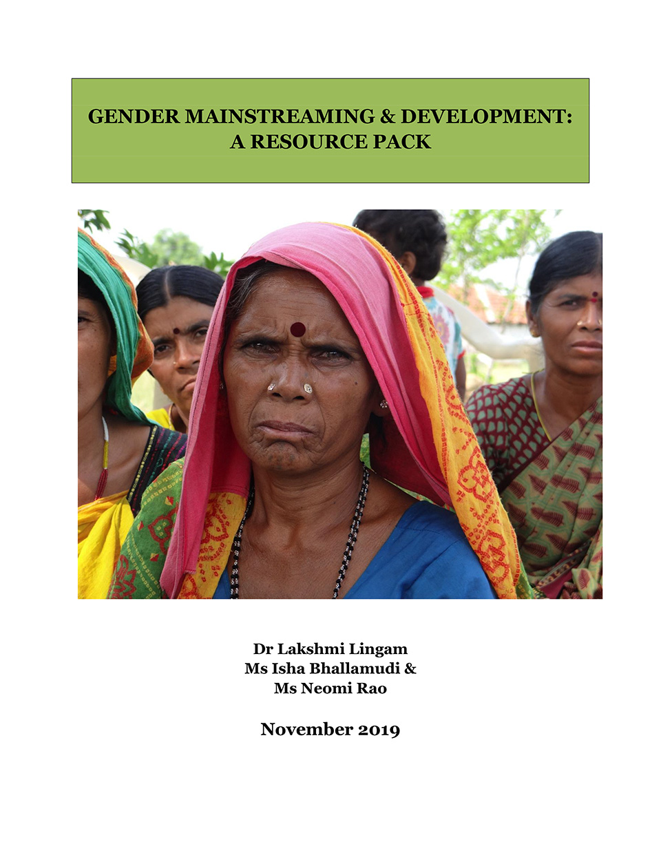 Gender mainstreaming & development: A resource pack
