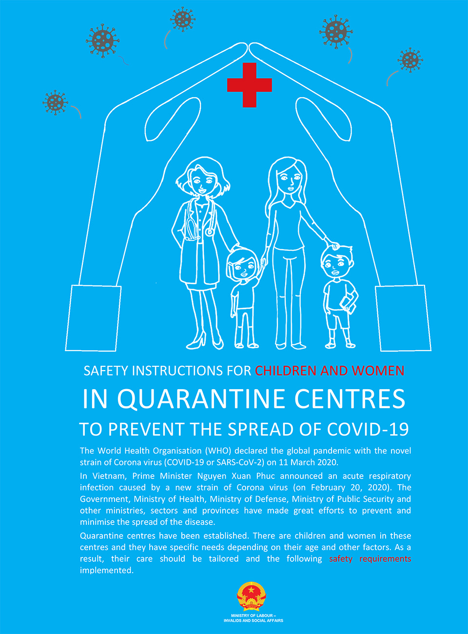 SAFETY INSTRUCTIONS FOR CHILDREN AND WOMEN IN QUARANTINE CENTRES TO PREVENT THE SPREAD OF COVID-19