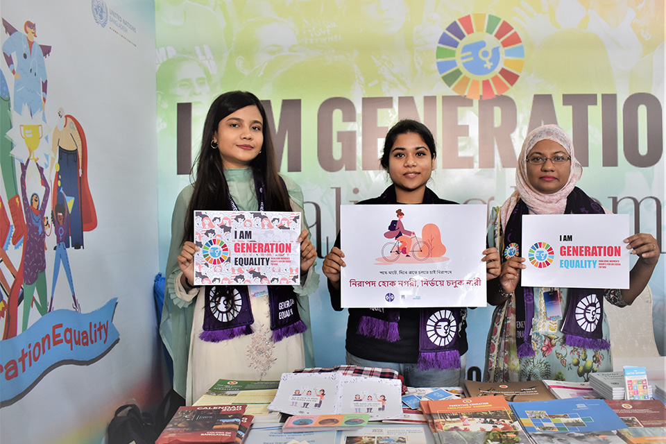 Bangladesh students pledge to promote respect for women at home and outside