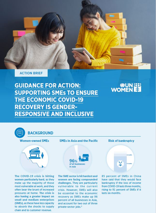 Guidance Note for Action: Supporting SMEs to Ensure the Economic COVID-19 Recovery is Gender-Responsive and Inclusive