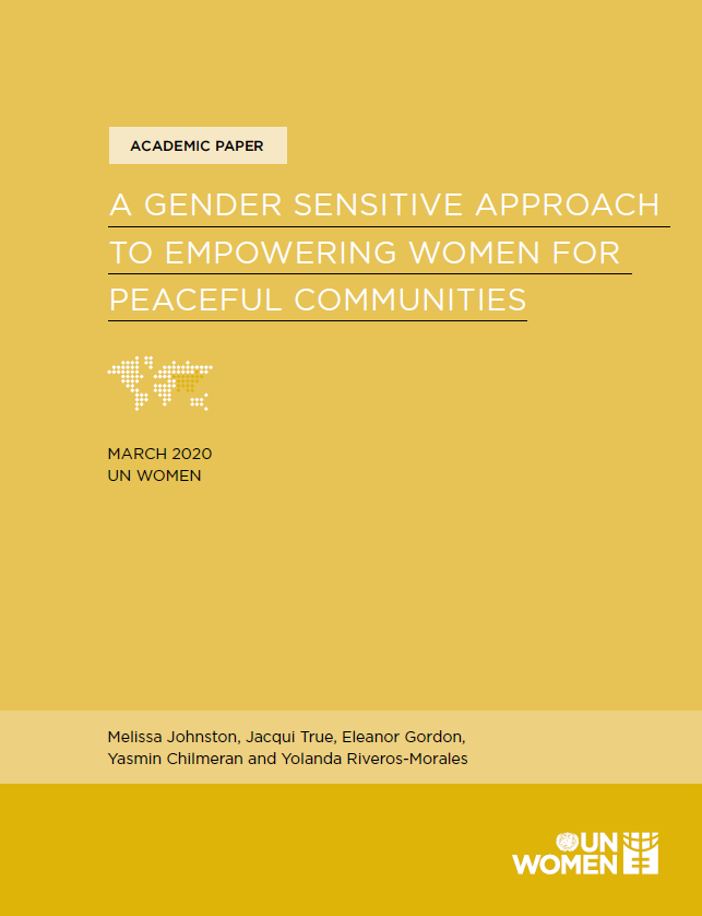 Academic Paper: A Gender Sensitive Approach to Empowering Women for Peaceful Communities