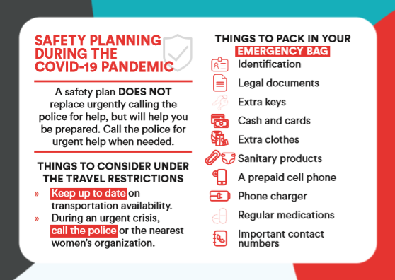 Safety planning for violence against women during the COVID-19 pandemic