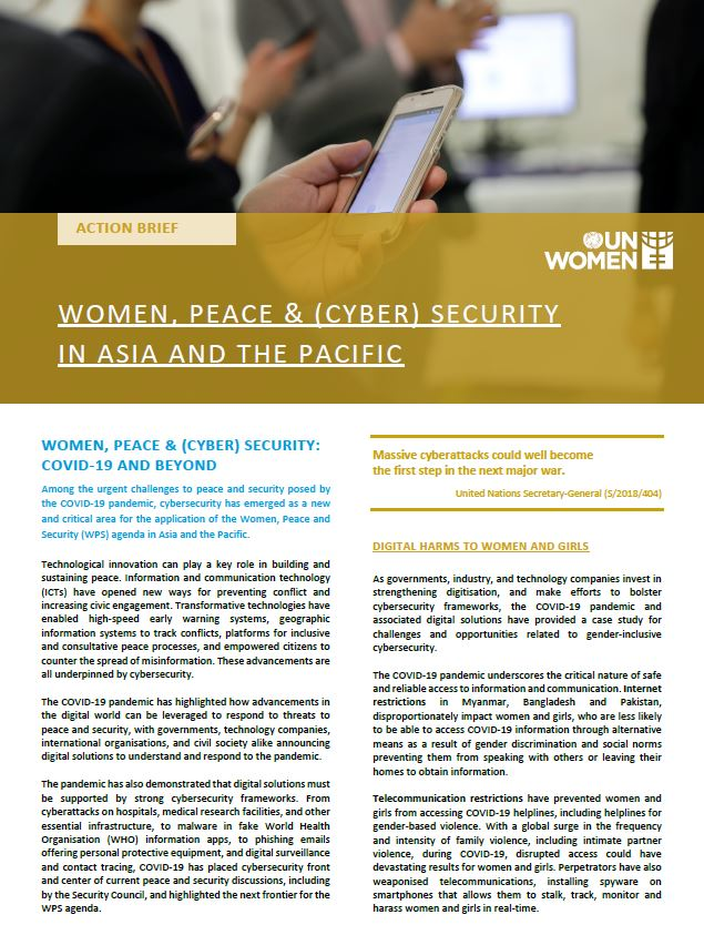 Action Brief: Women, Peace & (Cyber) Security in Asia and the Pacific