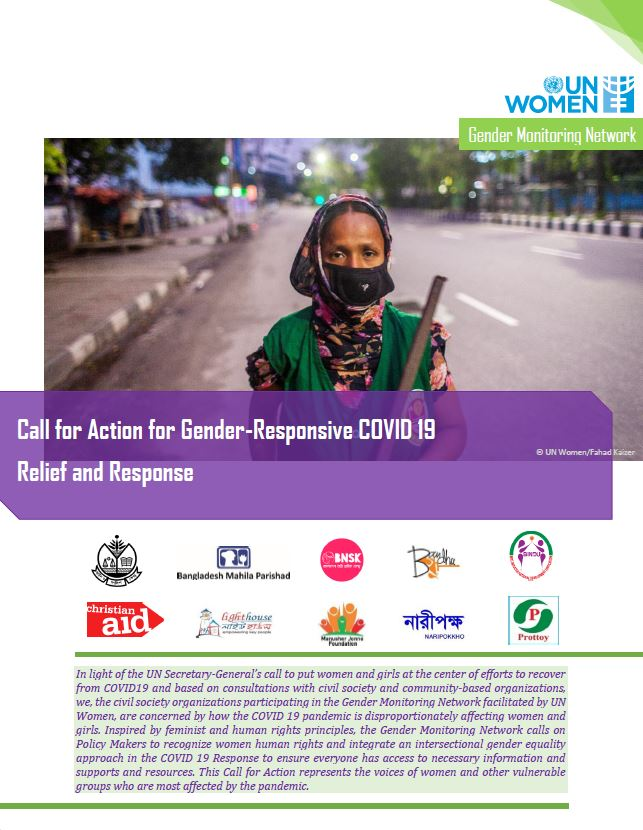 Call for Action on Gender Responsive COVID19 Relief and Response