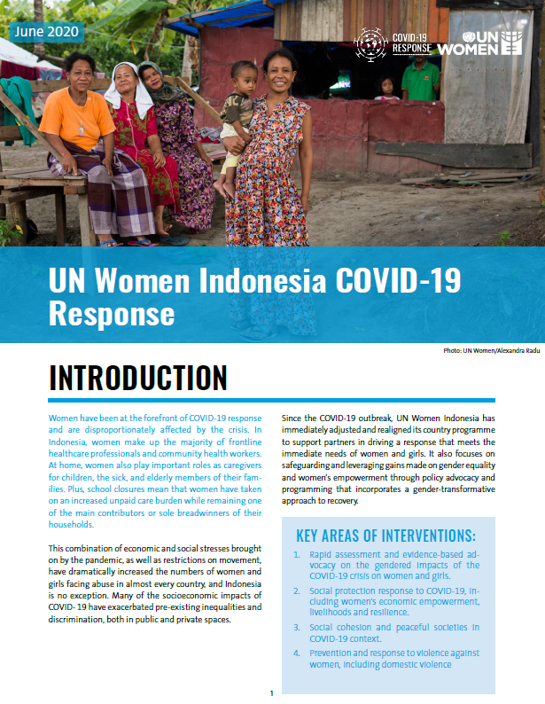UN Women Indonesia COVID-19 Response