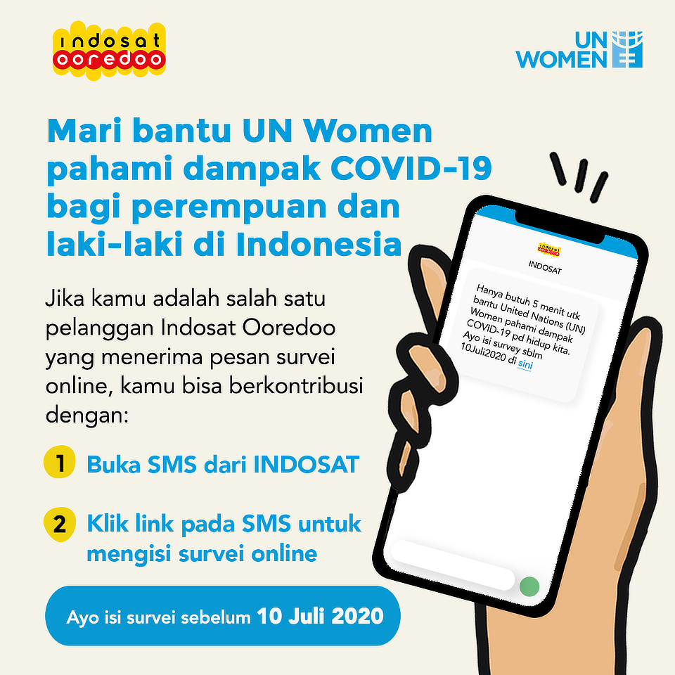 UN Women and Indosat Ooredoo Partners to Assess  the Impact of COVID-19 on Women and Girls