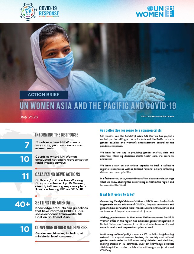 ACTION BRIEF: UN Women Asia and the Pacific and COVID-19