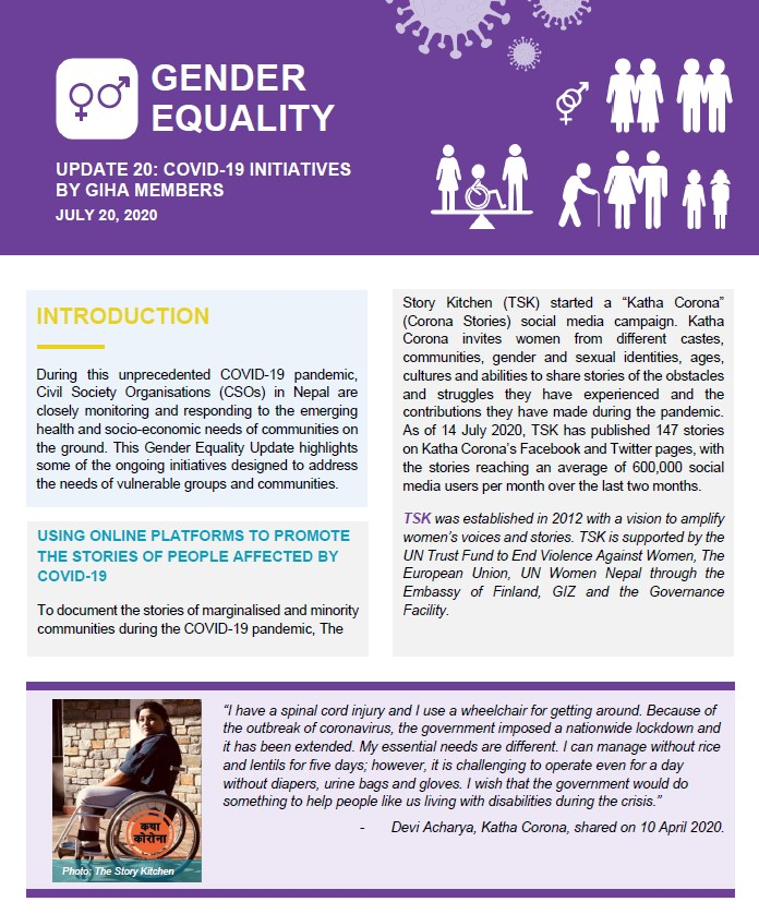 Gender Equality Update 20