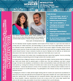 UN Women Pakistan Newsletter - Issue No 5: May - August 2013