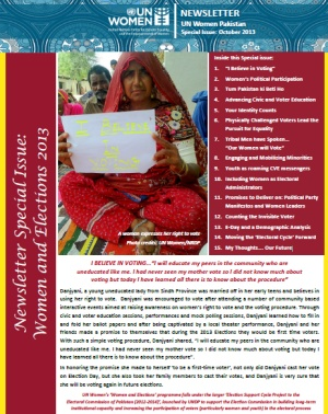 UN Women Pakistan Newsletter Special Issue - October 2013
