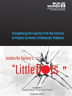 """Strengthening the Capacity of the Thai Judiciary to Protect Survivors of Domestic Violence:Justice for Society's """"Little Dots"""""""