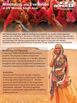 Factsheet: Monitoring and Evaluation at UN Women South Asia