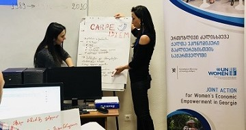 The Training of Trainers included practical exercises on designing social media media marketing strategies