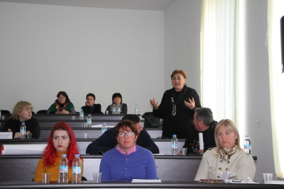 NGO RoundTable discussion on domestic violence in Ozurgeti
