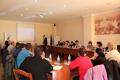 IDP women entrepreneurs participating in marketing and sales training program conducted in Kutaisi