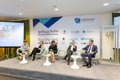 The event provided space for discussions about the role of the private sector in Georgia in empowering women at work