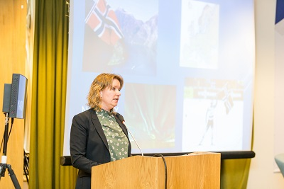 Lena Vonka, a successful health-sector entrepreneur who has over 130 employees – mostly women – shared details on her experience in Norway
