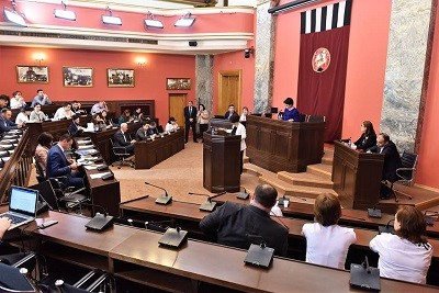 The Legal Committee of the Parliament of Georgia discussing a petition of the Women's Movement on gender-related killings of women (femicides)