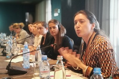 Tamar Sabedashvili, Deputy head of the UN Women Country Representative in Georgia talking about the root causes of the gender pay gap in Georgia