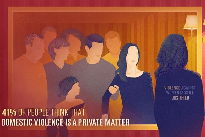 UN Women supports cooperation between private and public organizations on the issues of domestic violence