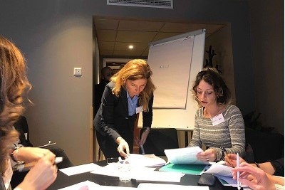 Participants of the training working in groups