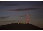 Tbilisi TV Tower Lit in Orange to Mark the International Day for the Elimination of Violence Against Women