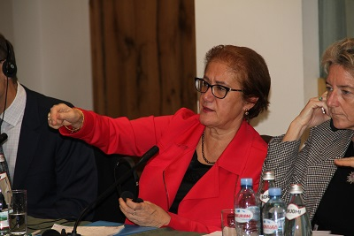 Ms. Ayşe Cihan Sultanoğlu, UN Representative to the Geneva International Discussions on the conflict in Georgia, responding to questions from grass-roots women