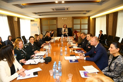 The meeting brought together twenty-five representatives from security and defence sector of the USA, Italy, Greece, Bulgaria, Romania, Turkey, Bosnia and Herzegovina, and Georgia
