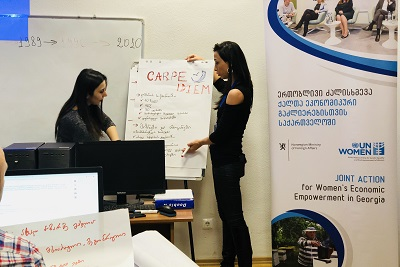 The Training of Trainers included practical exercises on designing social media marketing strategies