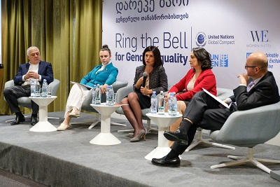 Ms. Nino Suknidze, General Counsel of the Bank of Georgia shared her perspective in the event's second panel discussion