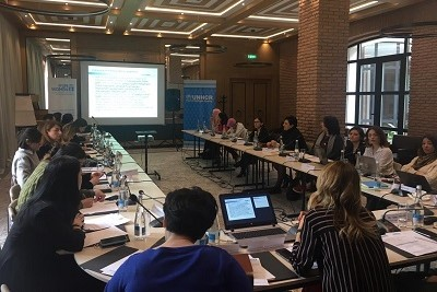 Participants from the state agencies and NGOs working on the violence against women and migration issues attended the workshop on refugee women's empowerment in Georgia