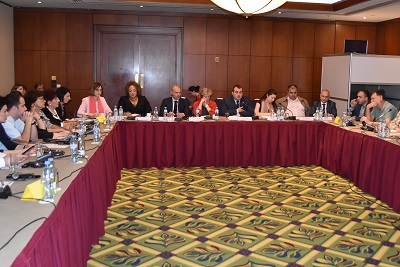 Participants of the GID meet with the civil society organizations and experts