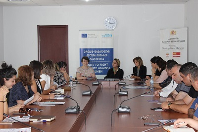 A round-table stakeholders meeting to discuss progress and region-specific challenges about enhancing multi-sectoral cooperation on domestic violence in Marneuli