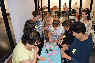 Hands-on group work during training in Gyumri City