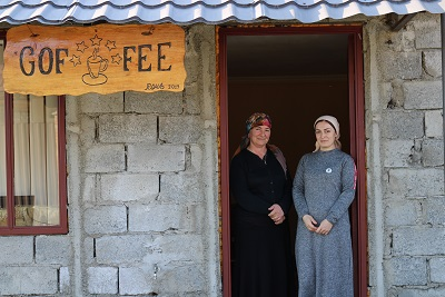 Diana Imedashvili and her mother-in-law are welcoming guests at Diana's cafe - Cafe Birkiani