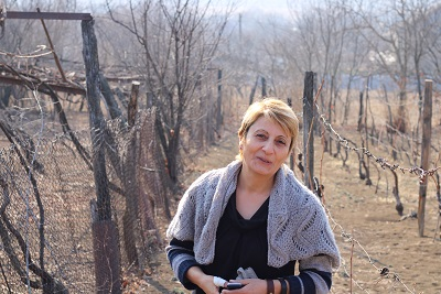 Lali Gurgenidze, winemaker from the Asureti village