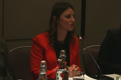 Blerta Cela, UN Women Deputy Regional Director for Europe and Central Asia gave her opening remarks at the event