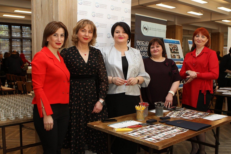 Tea Aduashvili, Director of WEPs signee Georgian Audit Company, together with some of the company's employees; Photo: Georgian Audit Company