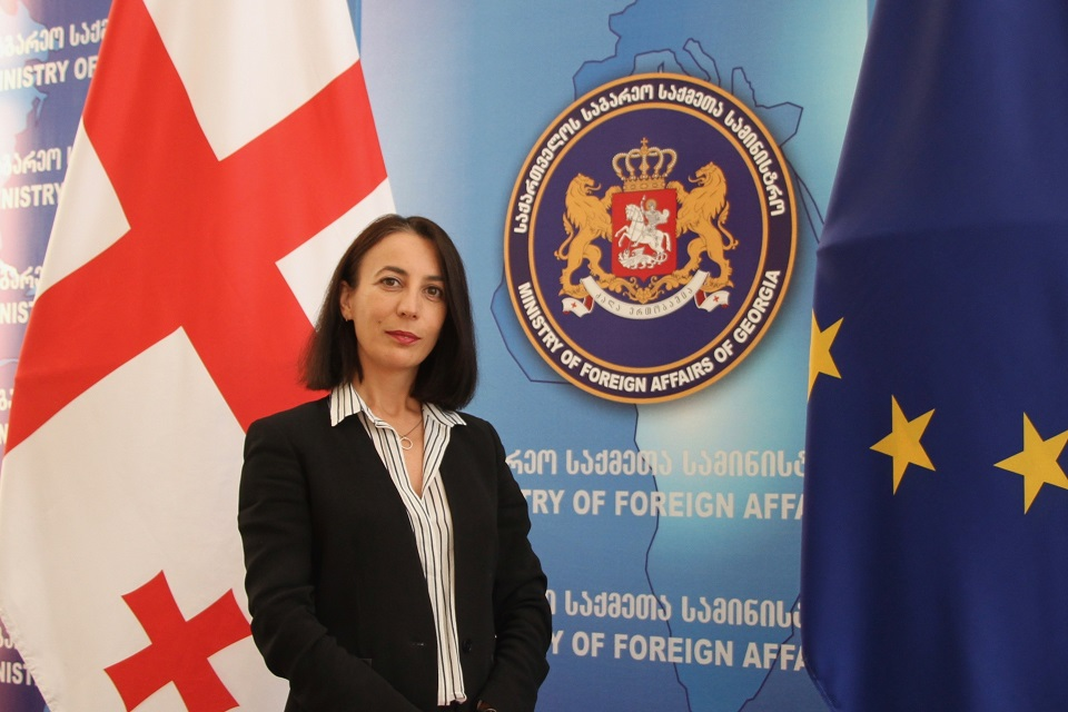 Nino Berikashvili, the head of the Conflict Resolution Policy Division, Political Department at the Ministry of Foreign Affairs of Georgia. Photo: Ministry of Foreign Affairs of Georgia