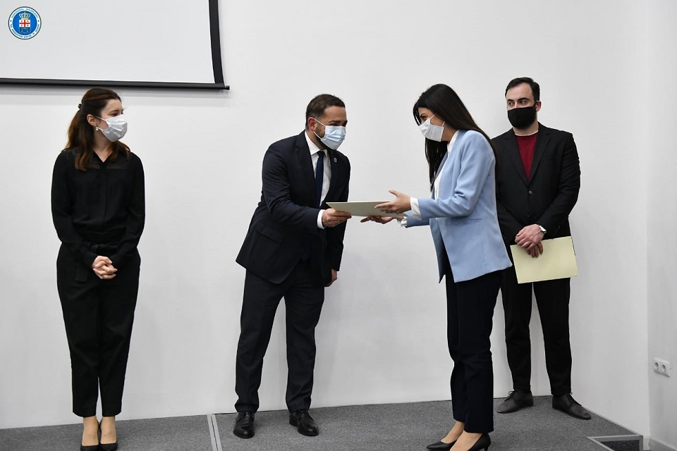 59 prosecutors completed the specialized course and were awarded relevant certificates. Photo: The Prosecutor's Office of Georgia