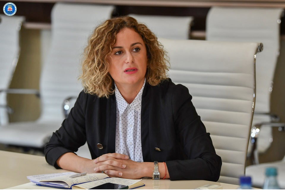 Deputy Prosecutor General of Georgia, Natia Merebashvili attending online presentation of a special manual developed for investigators, prosecutors and judges on cases of sexual violence crimes. Photo: The Prosecutor Office of Georgia