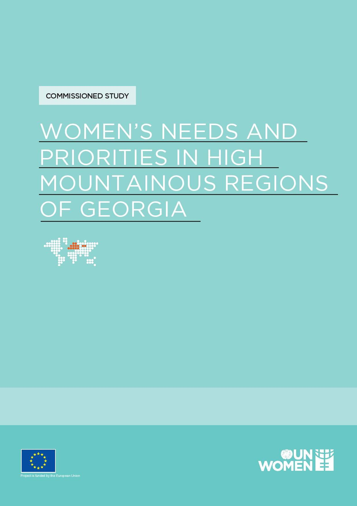 Women's Needs and Priorities in High Mountainous Regions of Georgia