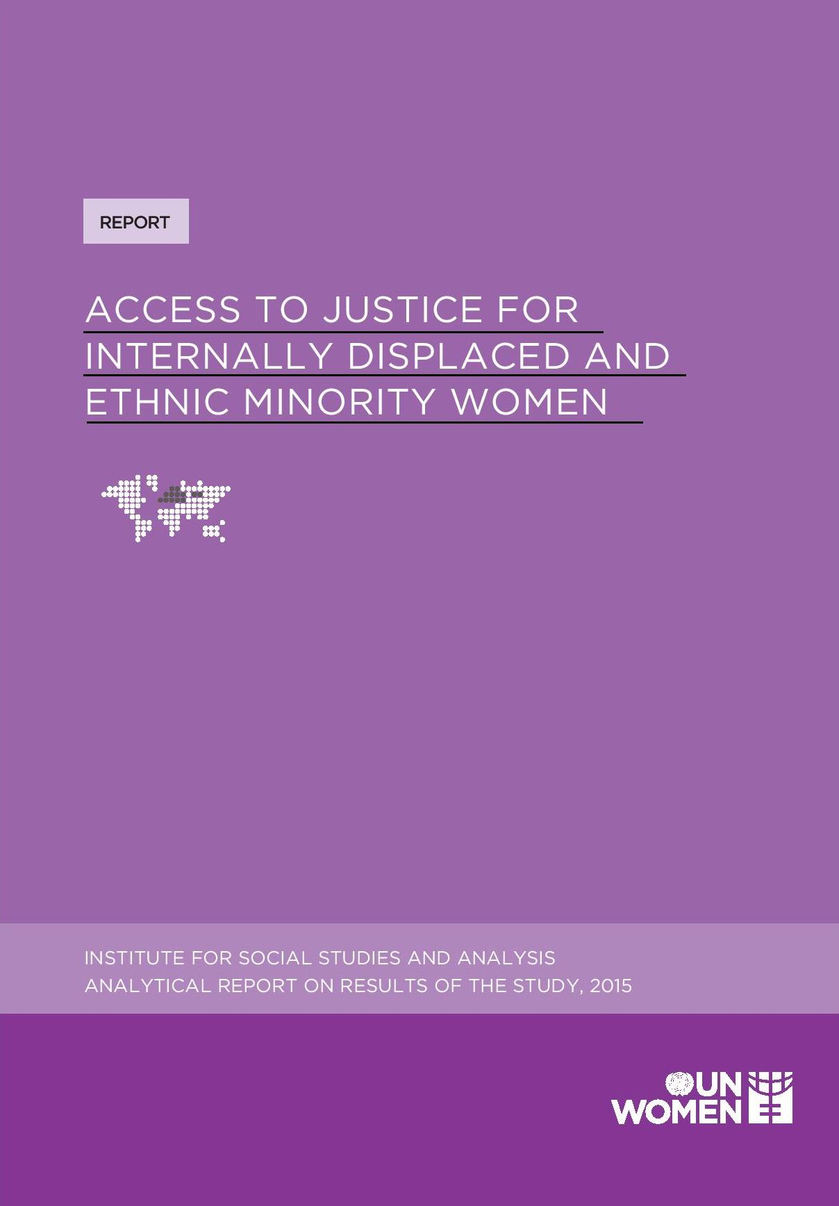 Access to Justice for Internally Displaced and Ethnic Minority Women