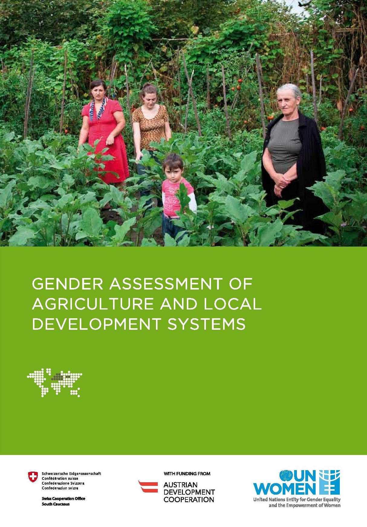 Gender Assessment of Agriculture and Local Development Systems