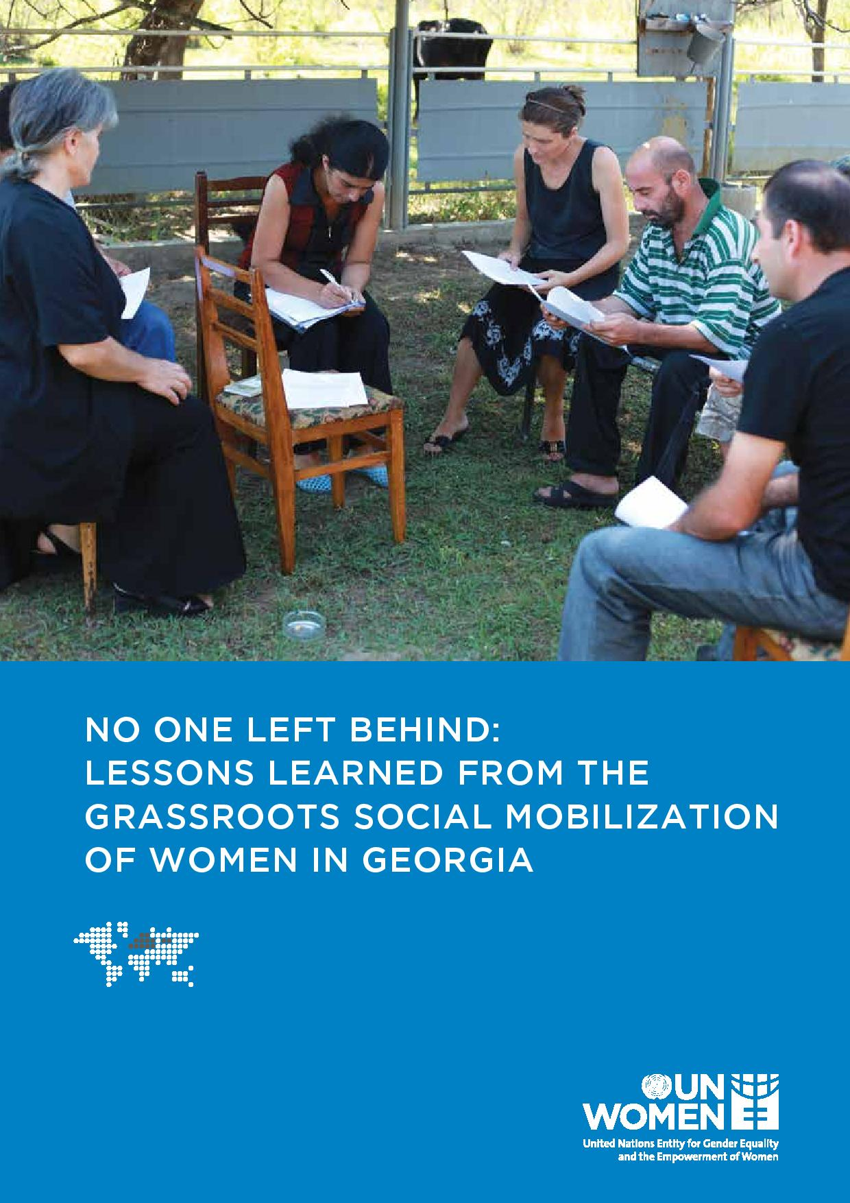 No one left behind: lessons learned from the grassroots social mobilization of women in Georgia