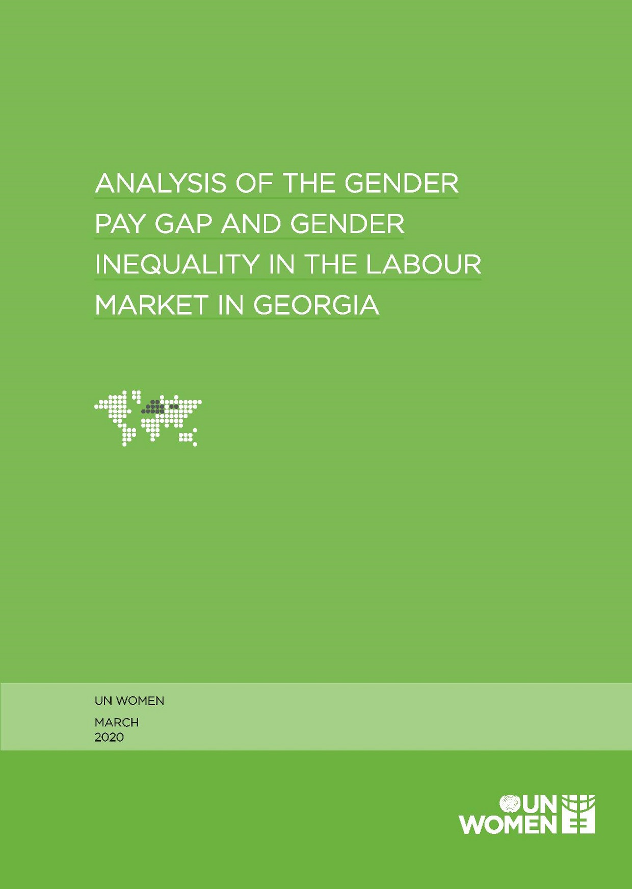 Analysis of the Gender Pay Gap and Gender Inequality in the Labor Market in Georgia