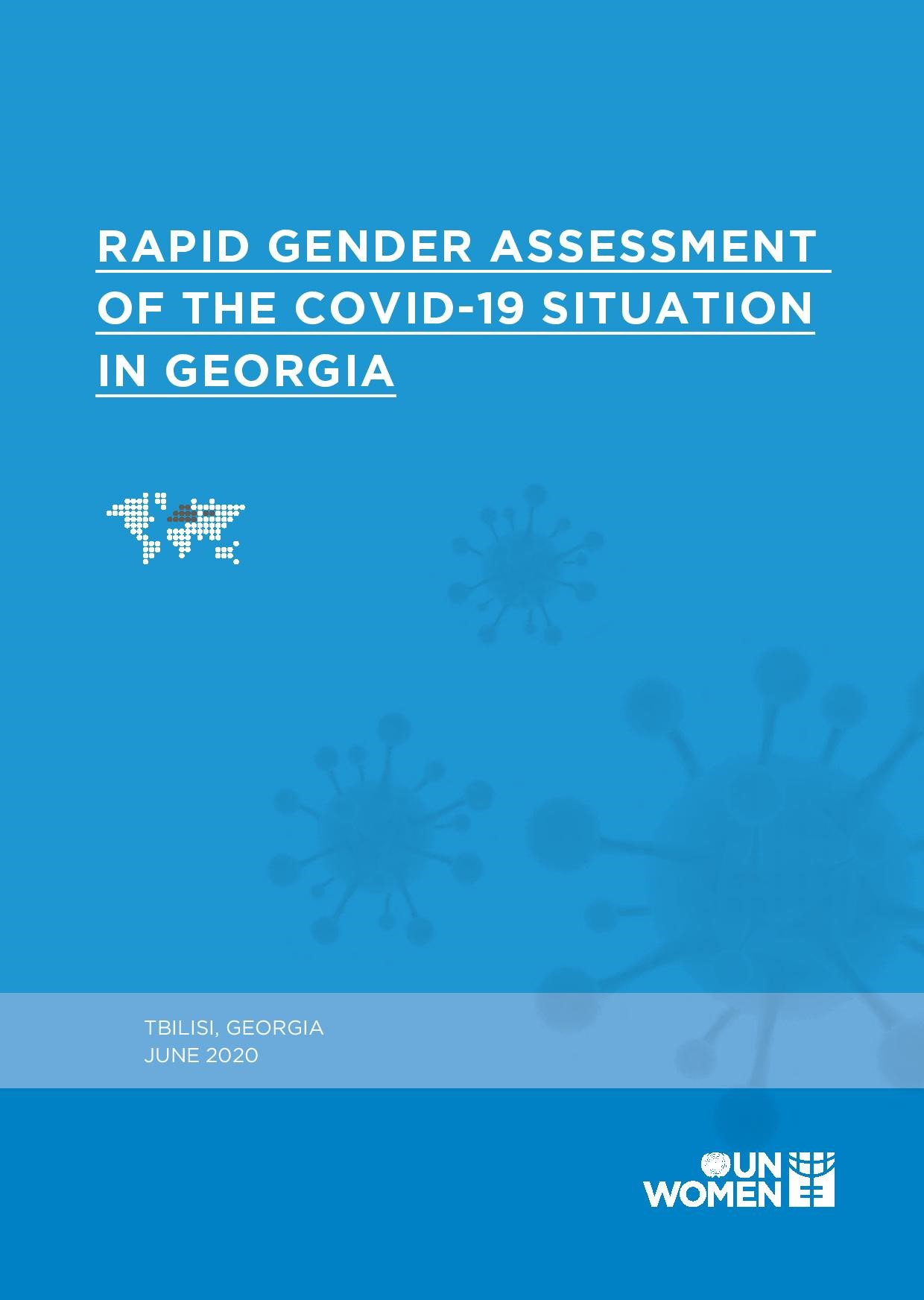 Rapid Gender Assessment of the COVID-19 Situation in Georgia