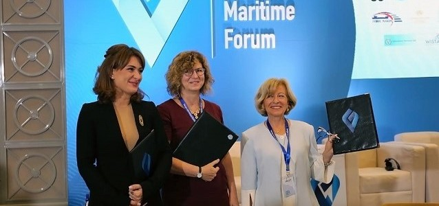 Signing ceremony of the Memorandum of Understanding. From left to right: Tamar Ioseliani, Director of the MTA, Erika Kvapilova, UN Women Country Representative in Georgia and Lali Khvedelidze, President of WISTA