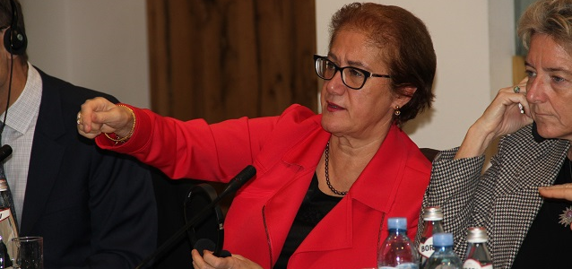 Ms. Ayşe Cihan Sultanoğlu UN Representative to the Geneva International Discussion on the conflict in Georgia, responding to questions from grass-roots women